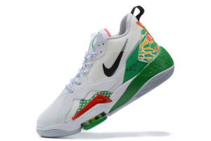 Mens Jordan Zoom 92 Summit White/Black-Lucky Green-Track Red Shoes CK9183-103