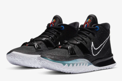 Mens Nike Kyrie 7 EP Black/Off Noir/Chile Red/White CQ9327-002-1