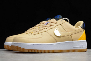 New Fashion Nike Air Force 1 Low NBA Pack Sesame University Gold CT2298-200-3