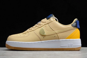 New Fashion Nike Air Force 1 Low NBA Pack Sesame University Gold CT2298-200