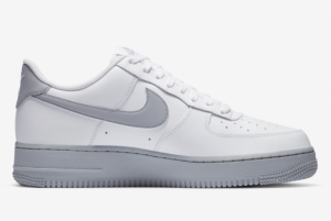 New Nike Air Force 1 Low 07 Wolf Grey Casual Shoe CK7663-104-1