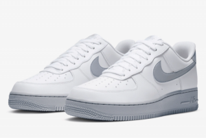 New Nike Air Force 1 Low 07 Wolf Grey Casual Shoe CK7663-104-3