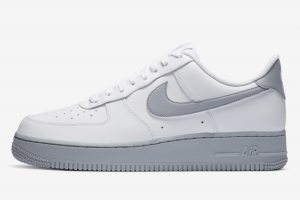 New Nike Air Force 1 Low 07 Wolf Grey Casual Shoe CK7663-104