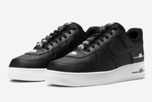 Nike Air Force 1 Low Double Air Low Black White Shoes Best Sell CJ1379-001-1
