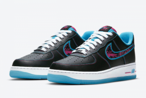 2021 Nike Air Force 1 Low Miami Nights New Style Shoes DD9183-001-1