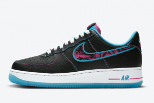 2021 Nike Air Force 1 Low Miami Nights New Style Shoes DD9183-001