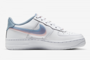 Nike Air Force 1 LV8 Double Swoosh White Armory Blue Pink CW1574-100-1