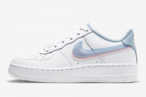 Nike Air Force 1 LV8 Double Swoosh White Armory Blue Pink CW1574-100