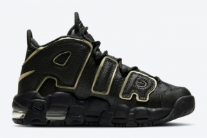 Ladies Nike Air More Uptempo GS Black Gold DD3038-001-1