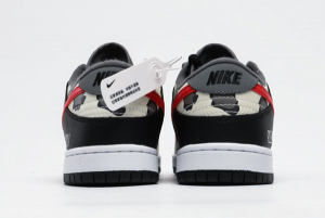 Nike SB Dunk Low Black Red Cow Shoes CU1727-006-2