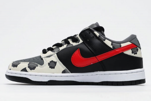 Nike SB Dunk Low Black Red Cow Shoes CU1727-006